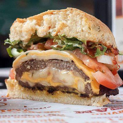Maplewood Burger Cheese Stuffed Burger